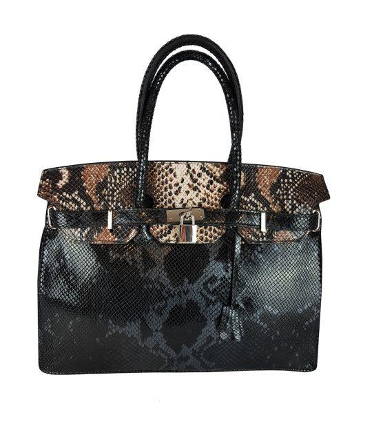 Tasche Maria Python-Stil Schwarz