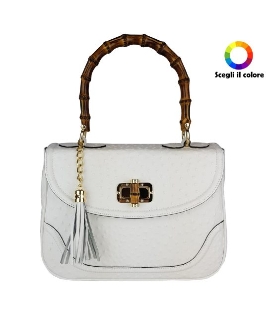 FG Bag Ostrich  Bamboo White
