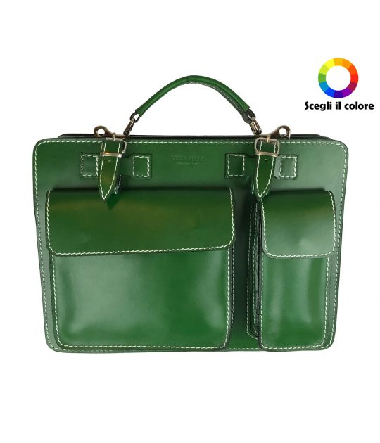 FG Borsa Cartella Verde