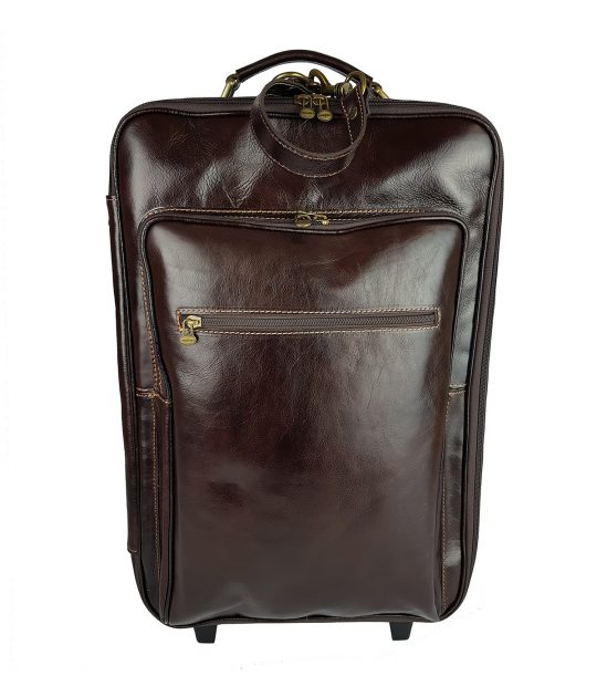 FG Trolley Luxury Marrone Scuro