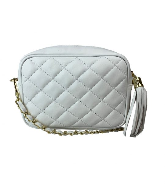 FG Clutch Quilted White