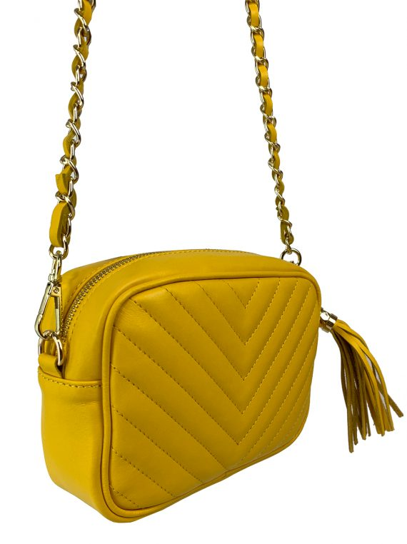 FG Clutch Quilted yellow