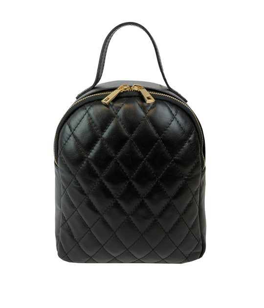 FG Backpack Woman Quilted black
