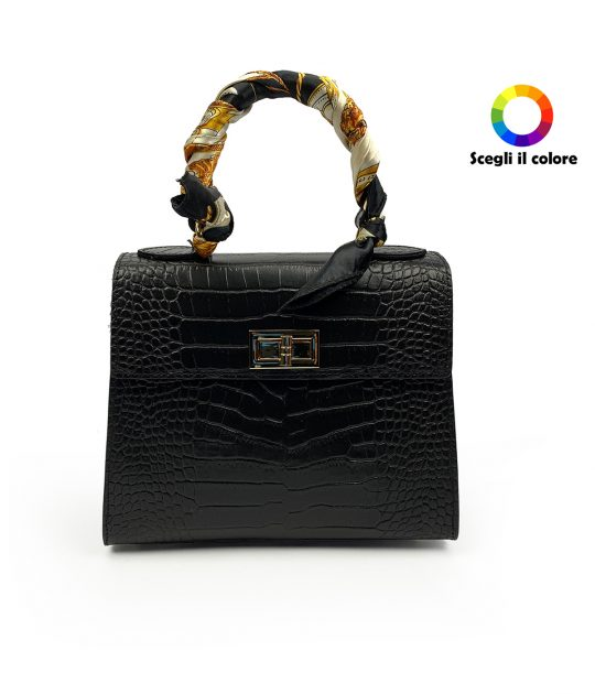 FG Bag Angel Crocodile Black